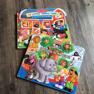 2 Fisher Price Little People Books